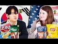 American & Korean Teen Swap Snacks