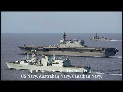 The US Navy, Australian Navy, Canadian Navy are conducting joint exercises in the South China Sea