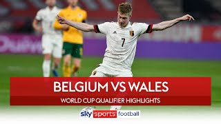 KDB and Lukaku score as Belgium beat Wales! | Belgium 3-1 Wales | World Cup Qualifier Highlights