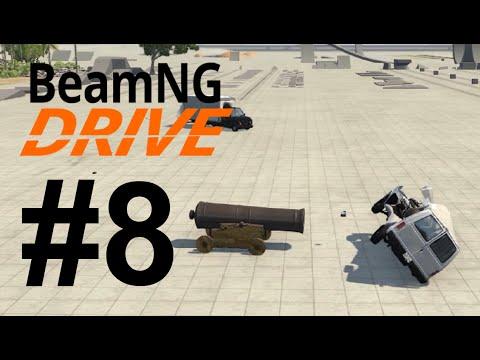 BeamNG.Drive (#8) - Strzelamy z armatki i wywolujemy wypadki