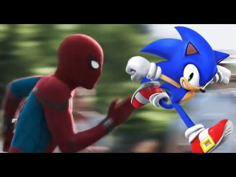 sonic the hedgehog fan made trailer spiderman homecoming style