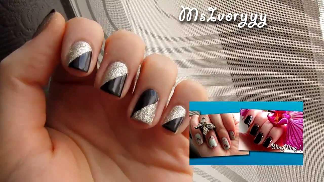 Silvester Nails - einfaches NY Nageldesign - YouTube