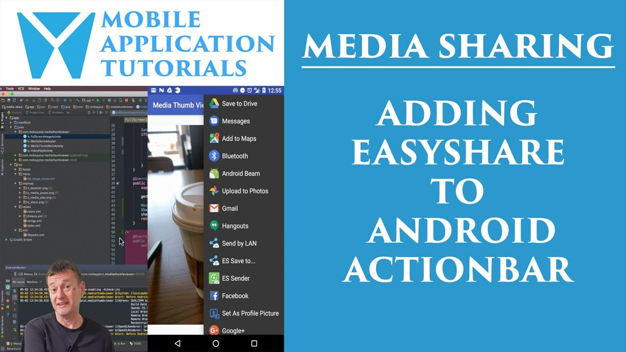 Android development tutorial sharing images application: Part 4 - Easy  Share Action