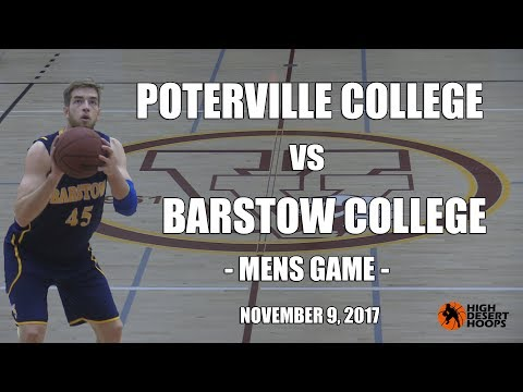 Porterville College  vs Barstow College - Men - 11/09/17