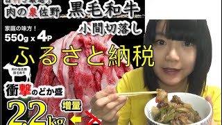 ふるさと納税🥩黒毛和牛小間切れ切落し食べました 大阪府泉佐野市
