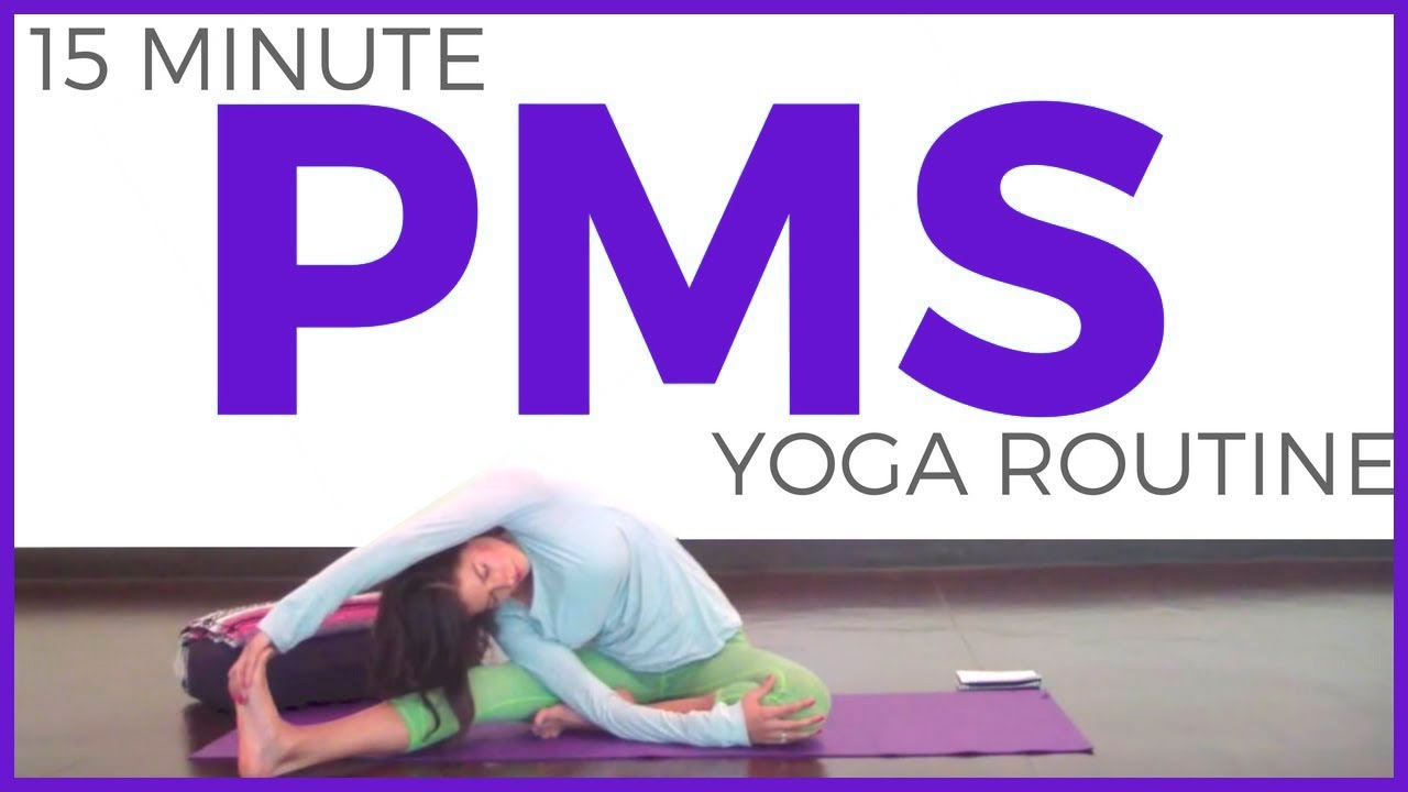 Yoga for Your Period   Yoga for PMS, cramps, bloating (15 minutes)