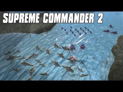 Supreme Commander 2 - Naval Armada Duel 4vs4 Multiplayer Gameplay