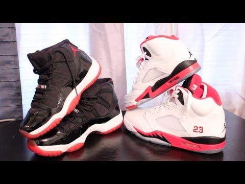 online retailer ed944 96bca His and Her Air Jordan Retro 11 Retro 5 Comparison