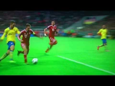 Podolski Goal Bayern Munich vs Arsenal
