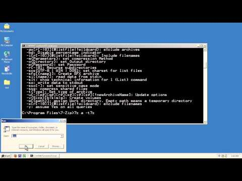 7-Zip Command Line Basics - YouTube