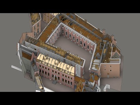 3D laserscan en BIM model Amsterdam Museum
