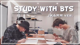 BTS Study with me | no talking, no music | white noise asmr 1 hour | Jungkook RM ver.