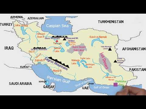 PHYSICAL GEOGRAPHY OF IRAN (Neighbouring Countries, Deserts, Lakes, Rivers, Ports)