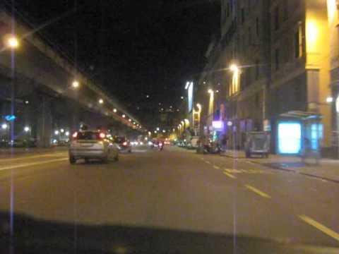 Genova vista di notte caricamento via gramsci youtube - Arredo bagno via gramsci genova ...