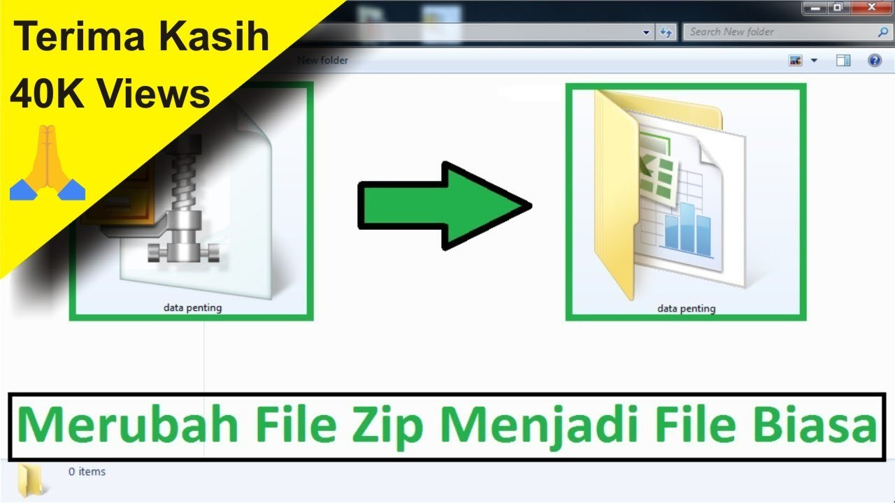 Tutorial Cara Merubah File Zip Menjadi File Biasa Menggunakan Winzip Simple News Video Youtube