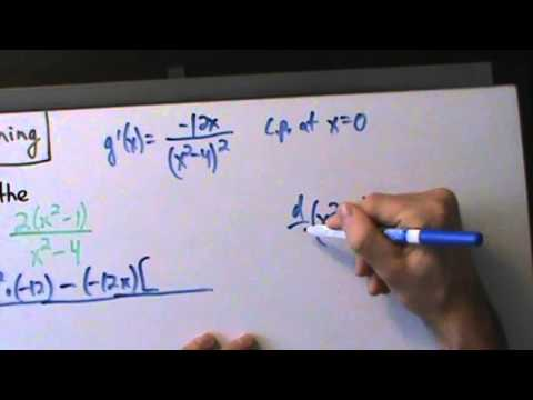 Calculus I - Curve Sketching - Example 5 - Sketch a Rational Function