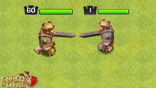 BARBARENKÖNIG - LEVEL 1 gegen LEVEL 60! ☆ Clash of Clans ☆ CoC
