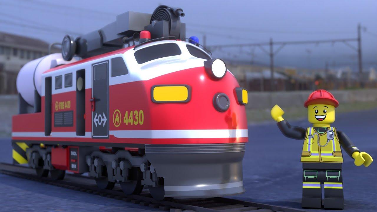Lego Train Fail - Lego city cartoon for kids - Choo choo train kids videos