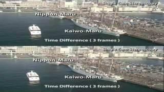 Single Cam Stereoscopy Test ( Comparison between Pulfrich Effect and Time-Difference  )