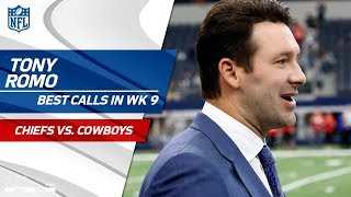 Tony Romo's Best Calls! | Chiefs vs. Cowboys | NFL Week 9
