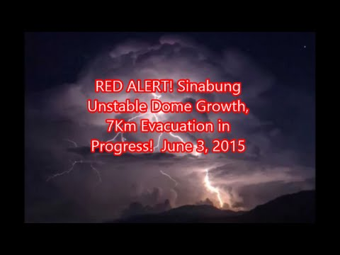 RED ALERT! SINABUNG | Unstable Dome Growth Prompts Evacuations for Mega Eruption! June 3, 2015