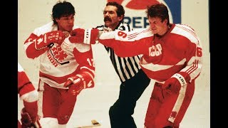 Canada vs U.S.S.R 1987 Bench clearing brawl