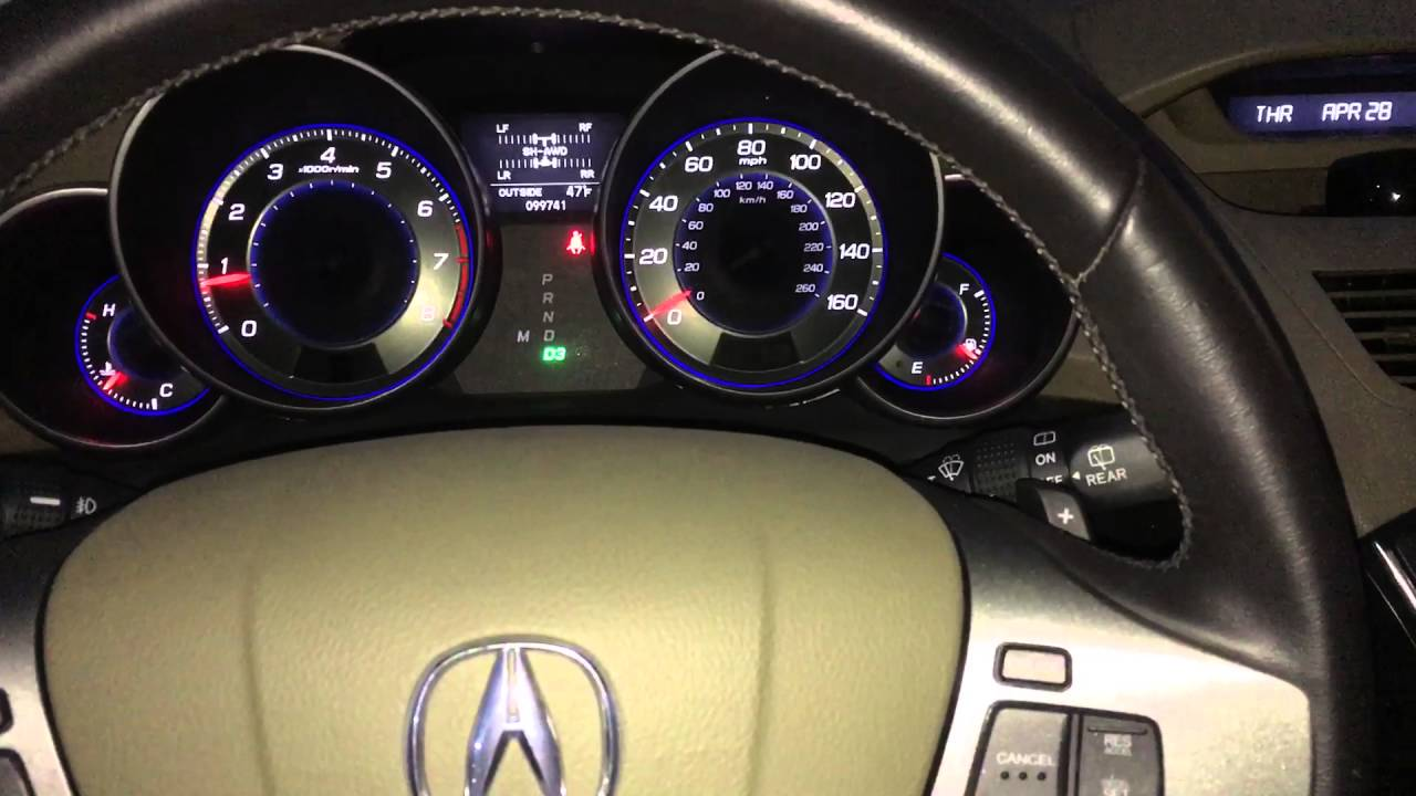 2009 Acura Mdx With 2010 Paddle Shifter Steering Wheel