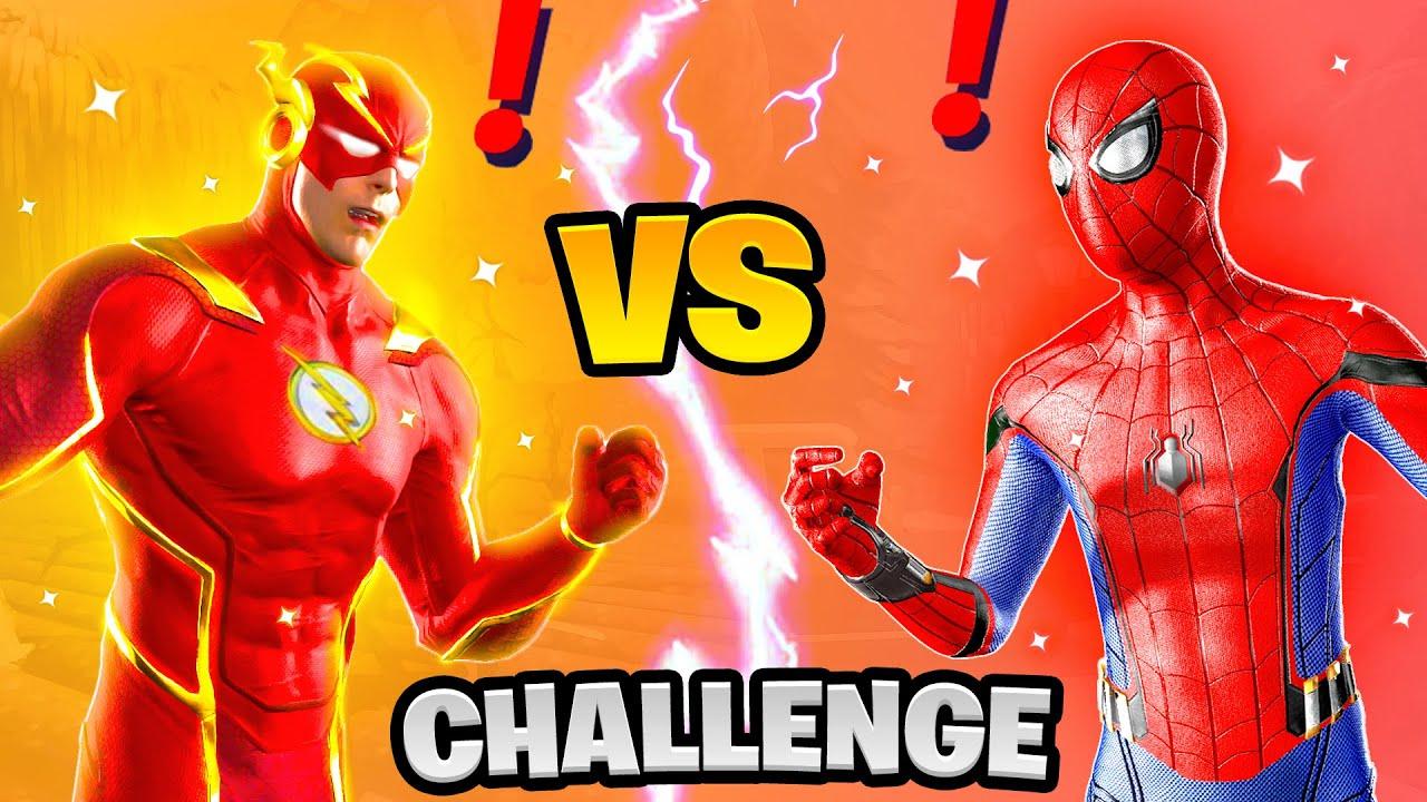 Fortnite Flash vs Spiderman Boss Marvel Challenge