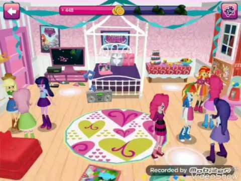 Let's Play на My Littel Pony Эквестрия гёрлз (Вечеринка у пинки пай) #2