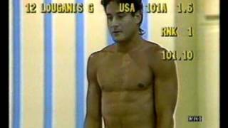 The very best dive ever: Greg Louganis at WC Madrid 1986 3mt swan dive 101 A