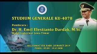 Studium Generale - Dr. H. Emil Elestianto Dardak, M. Sc
