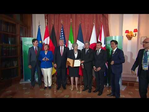 I Leader del Summit #G7Taormina firmano la Dichiarazione su Sicurezza e Lotta al Terrorismo