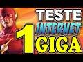 Internet do Japão 100Mbs e 1 GIGA - Teste de Velocidade
