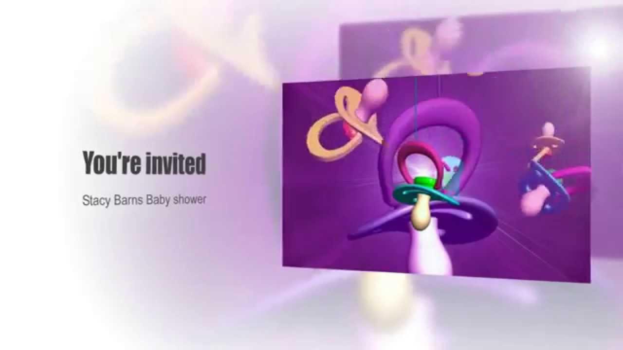 Electronic Baby Shower Invitation. SMC AD - YouTube