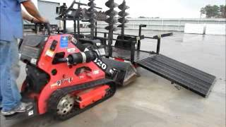 Sold! 2007 Boxer 320 Ride On Mini Skid Steer Loader W/ Trailer Bidadoo.com