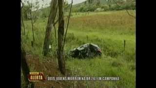 Dois jovens morrem na BR 267 em Campanha