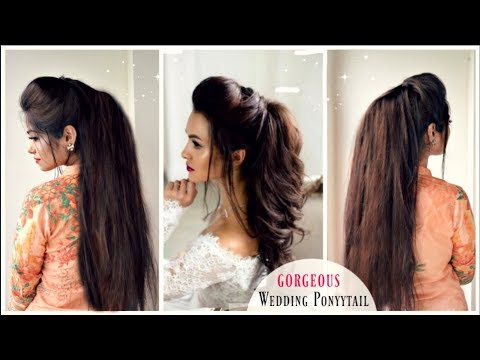 Gorgeous Wedding Volumized Ponytail Hairstyle