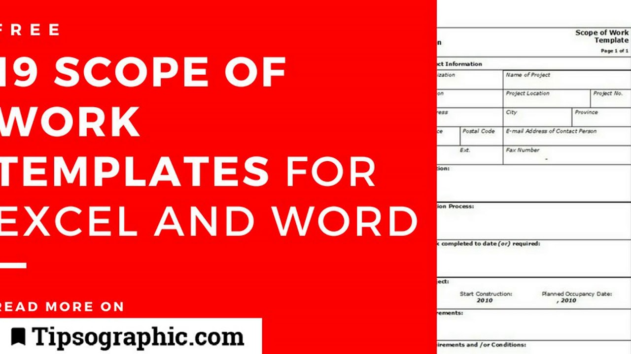 19 Terrific Scope Of Work Templates For Excel And Word Free