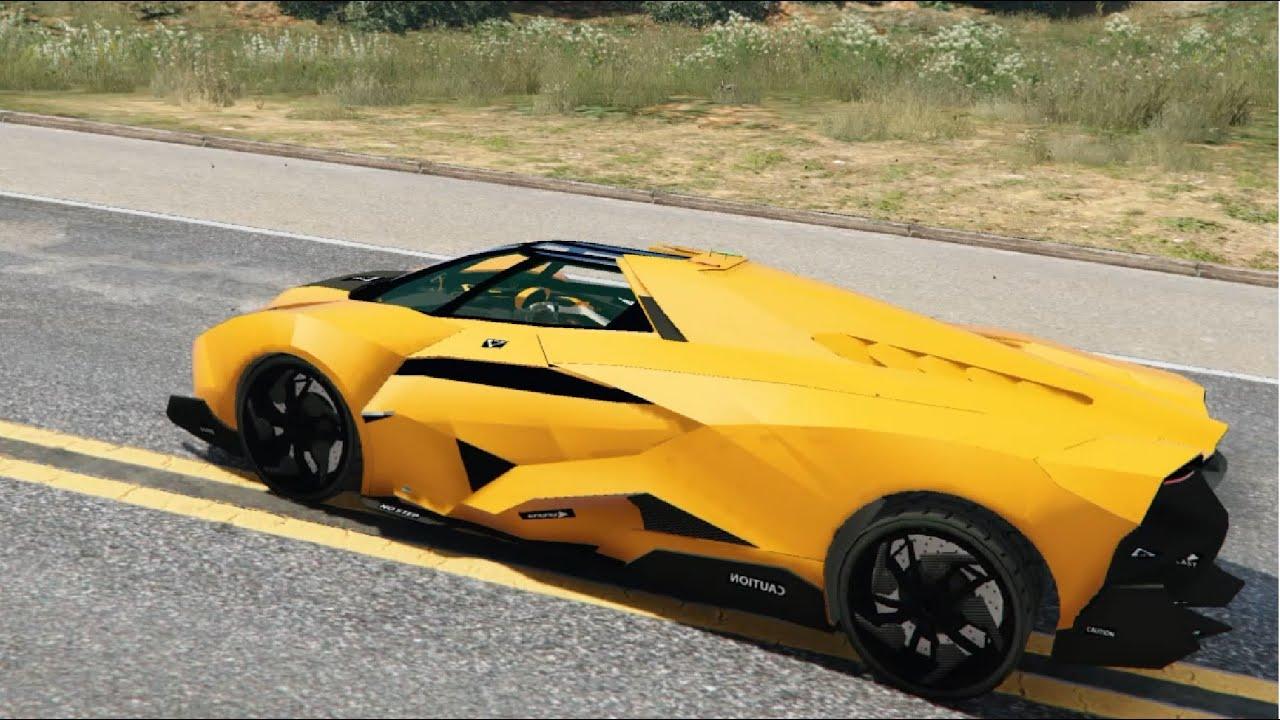 GTA V   Lamborghini Egoista Digital Dials 1.1 EnRoMovies   YouTube