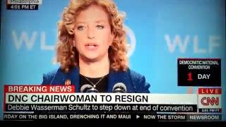 dnc debbie wasserman schultz resigns because wikileaks exposed her emails