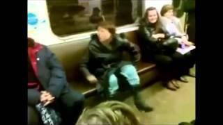 Пьяные и неадекватные люди в метро Прикол!