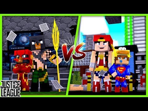 Minecraft VS  - DONUT & BABY MAX (AQUA MAN & FLASH) VS ROPO & BABY DUCK(WONDER WOMAN & SUPERMAN)