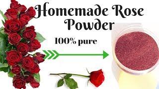 Homemade rose petal powder 100% natural | DIY Rose Powder For Glowing & Fair Skin | AVNI