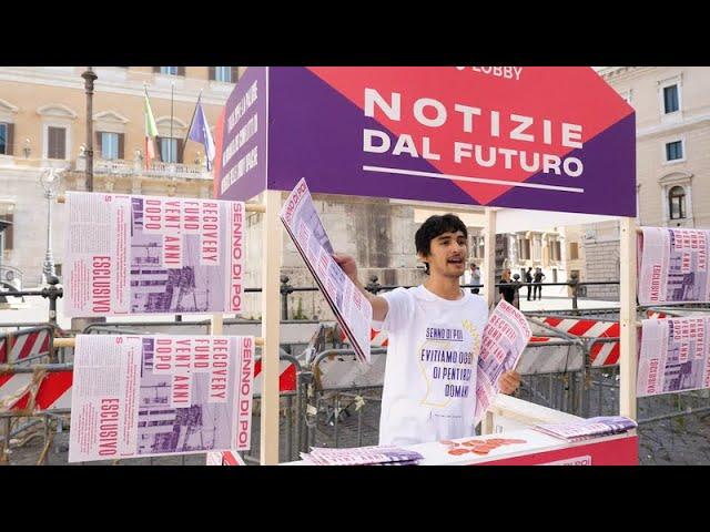 Flash mob a Montecitorio