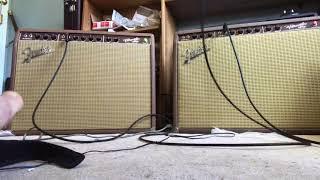 Fender Vibroverb 1963 original versus reissue 63 pre-CBS amplifier demo
