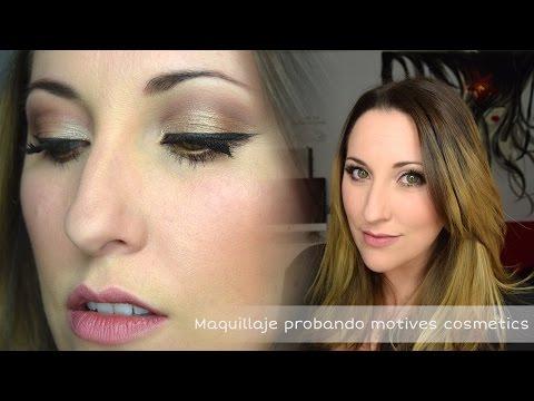 Maquillaje probando motives cosmetics