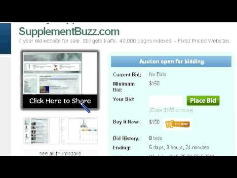 Dietary Supplements – Websites For Sale