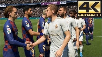 FIFA 20 4K Gameplay Barcelona vs Real Madrid El Clasico (Xbox One, PS4, PC)