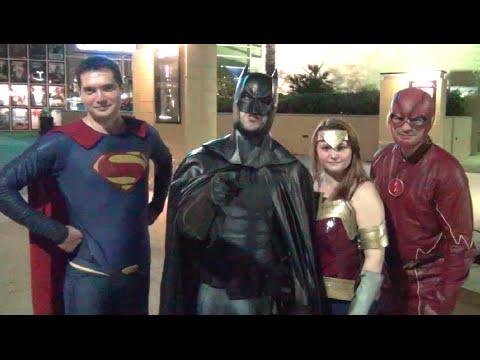 JUSTICE LEAGUE Invades Dawn of Justice Premiere - BATMAN v SUPERMAN Real Life Parody