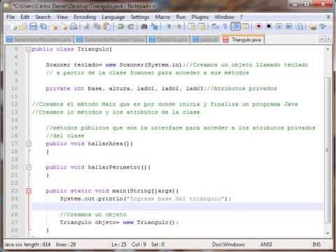 Programación Orientada a Objetos POO, Clase Triangulo